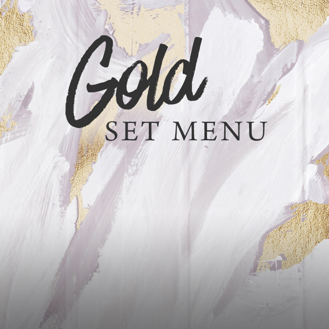 Gold set menu at The Encore