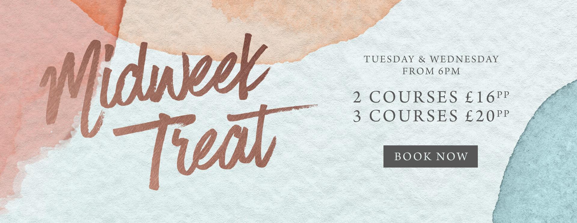 Midweek treat at The Encore - Book now