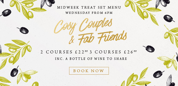 Midweek treat set menu at The Encore